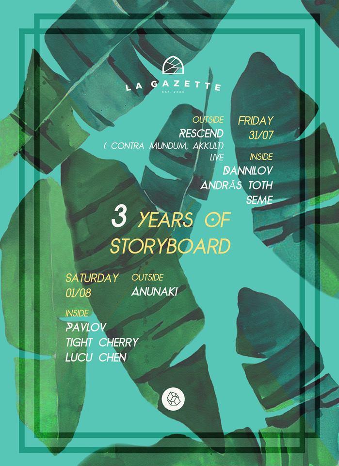 3 years of Storyboard @ La Gazette