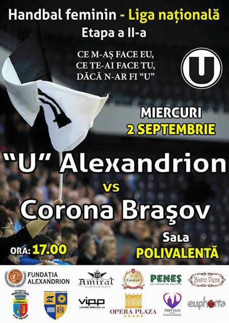 """U"" Alexandrion – Corona Brașov @ Sala Polivalentă"