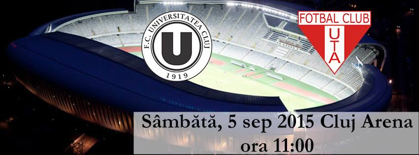 FC Universitatea Cluj – UTA Arad @ Cluj Arena