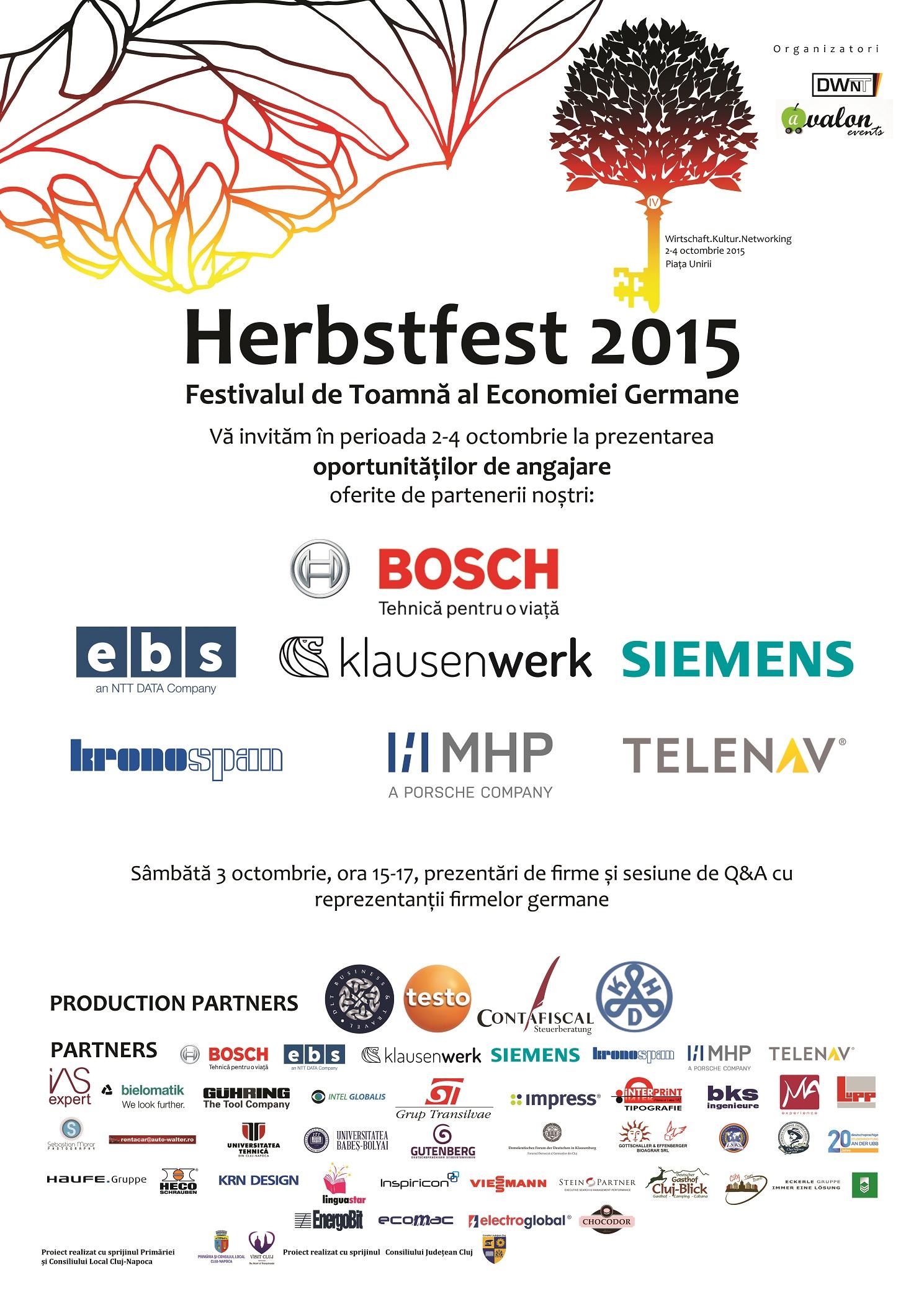 Herbstfest oferă oportunități de angajare la firmele germane din Transilvania