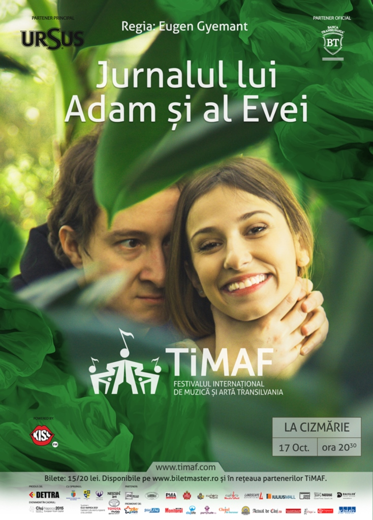 TiMAF – Jurnalul lui Adam și al Evei @ La Cizmărie