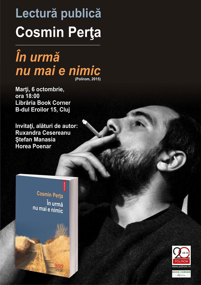 Lectură publică // Cosmin Perța @ Book Corner Librarium