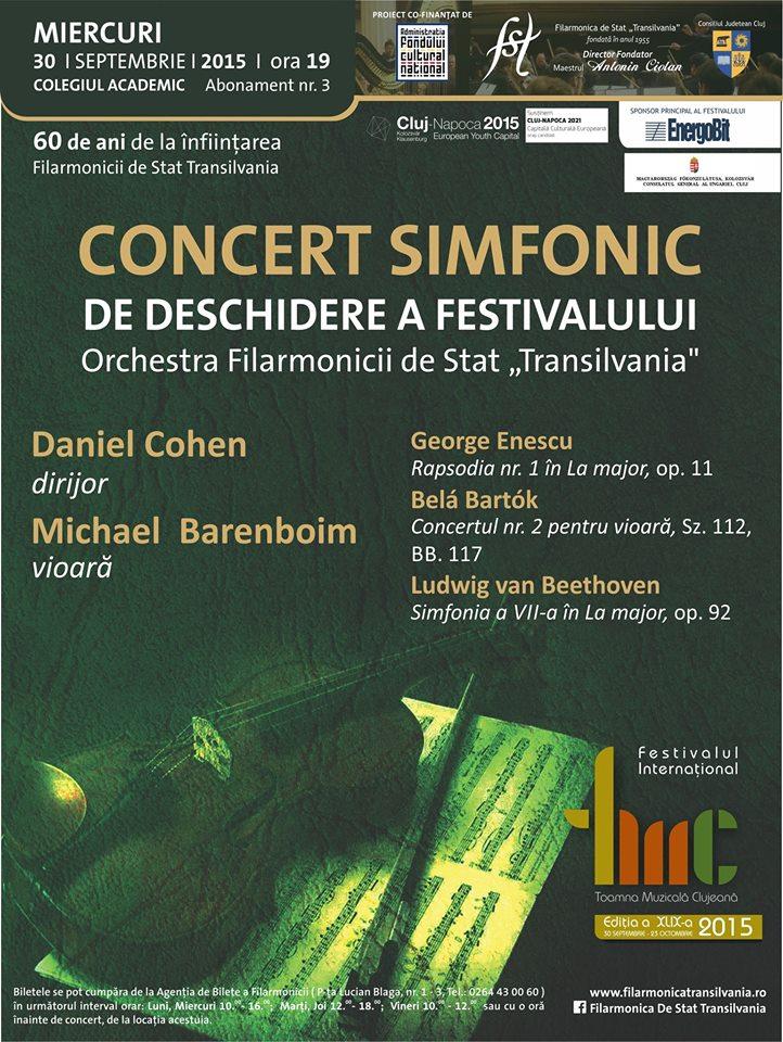 Concert deschidere a Toamnei Muzicale Clujene
