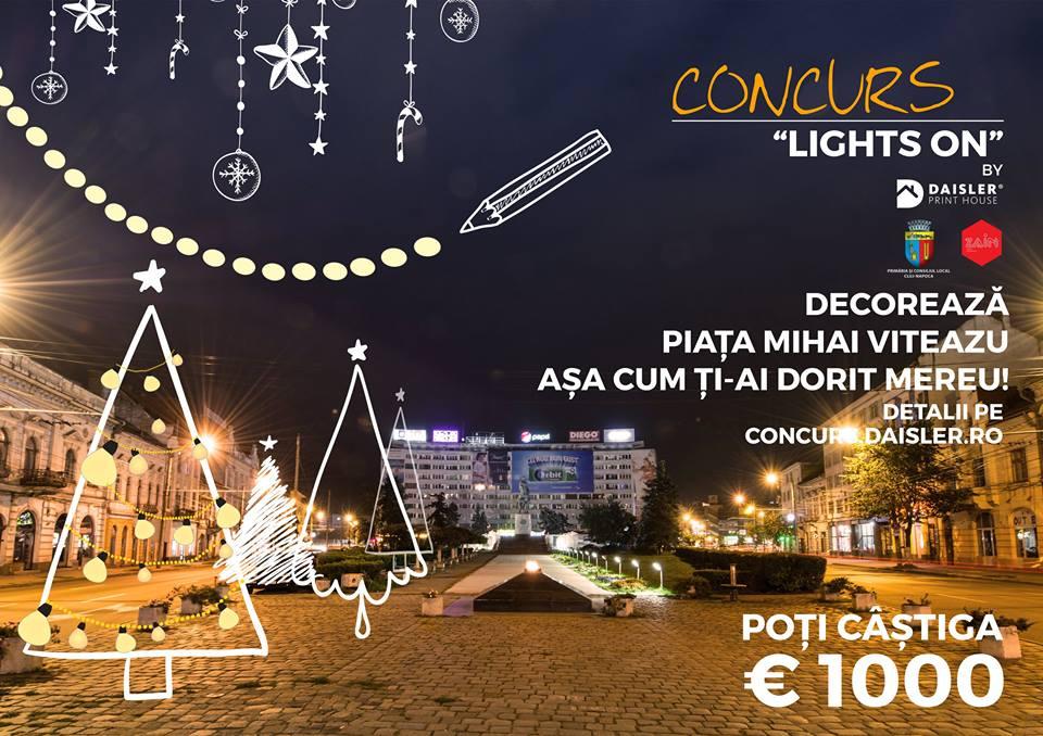 Lights On, decorează Piața Mihai Viteazu așa cum ți-ai dorit!