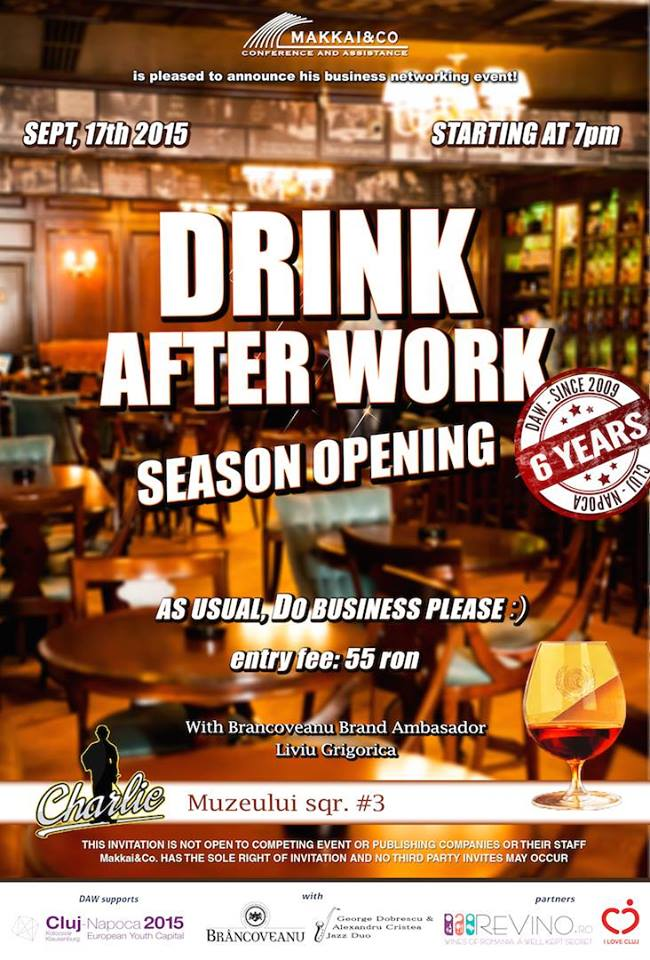 Drink After Work – Season Opening 2015 @ Charlie