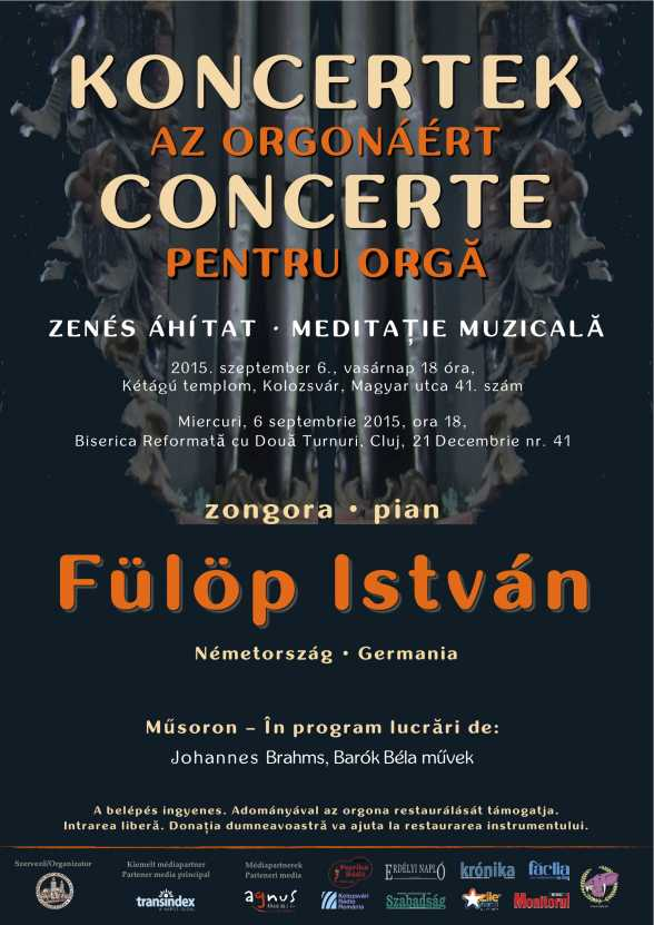 István Fülöp, concert pentru orgă @ Biserica reformată