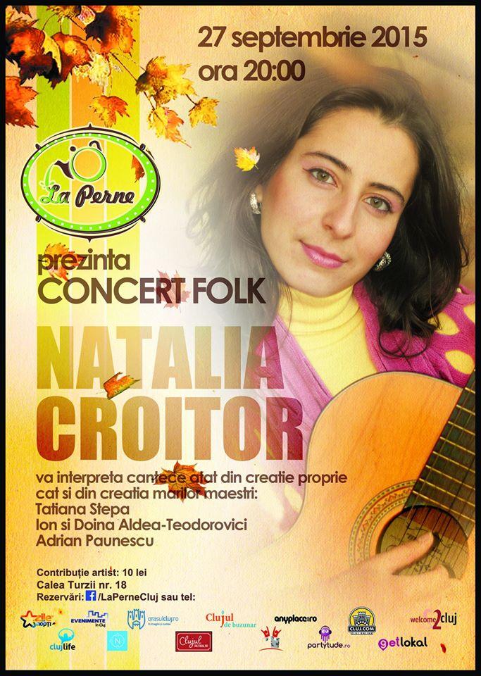 Concert Folk – Natalia Croitor @ La Perne