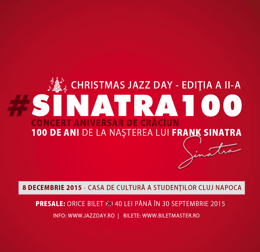 Concert excentric de jazz pentru 100 de ani SINATRA