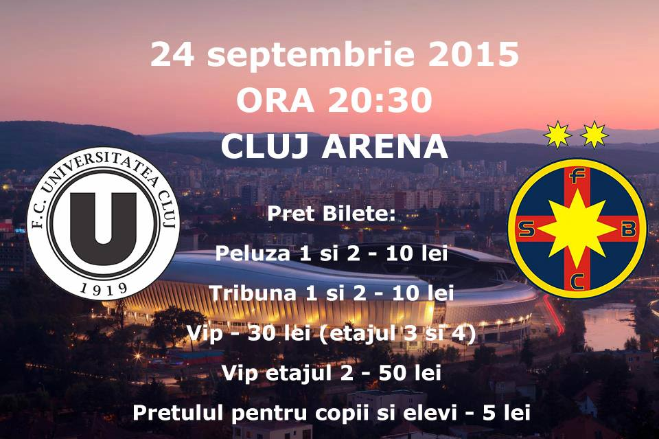 FC Universitatea Cluj – FCSB @ Cluj Arena