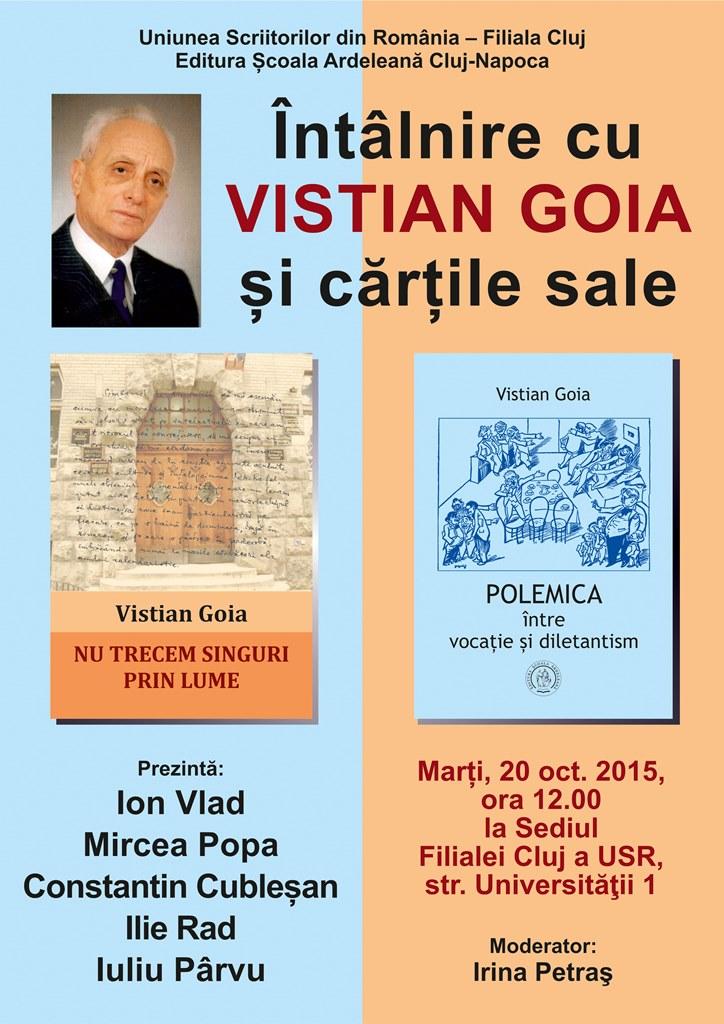 Întâlnire cu Vistian Goia @ USR Cluj