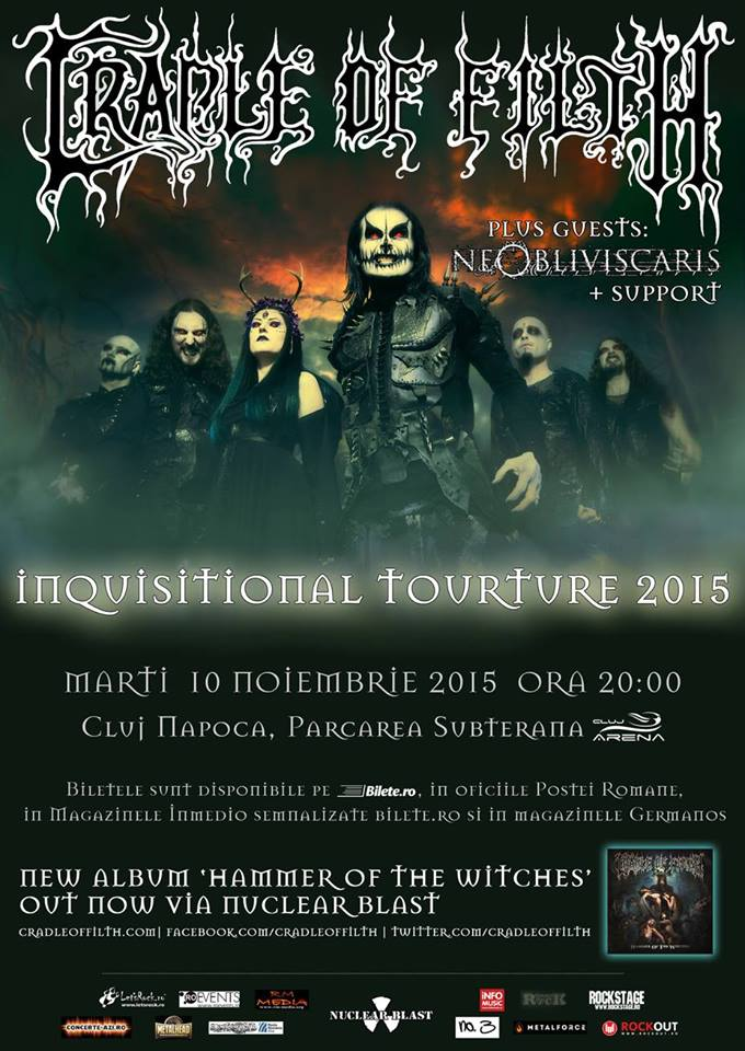 Cradle of Filth / Ne Obliviscaris @ Sala Polivalentă