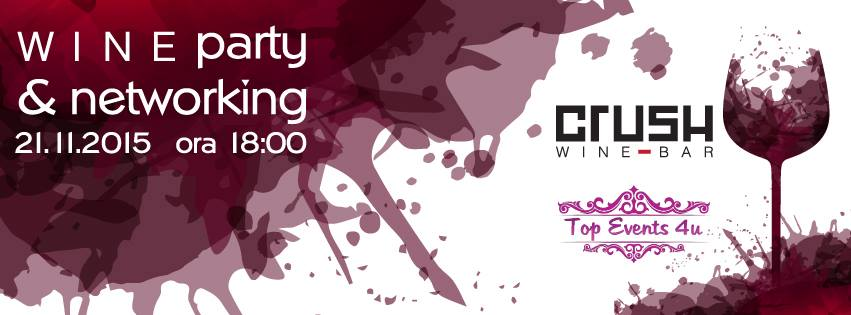 Wine Party & Networking @ Crush Wine Bar