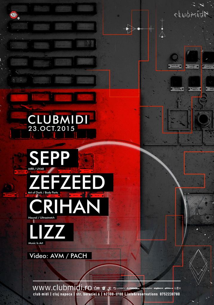 Sepp / Crihan / Zefzeed / Lizz @ Club Midi