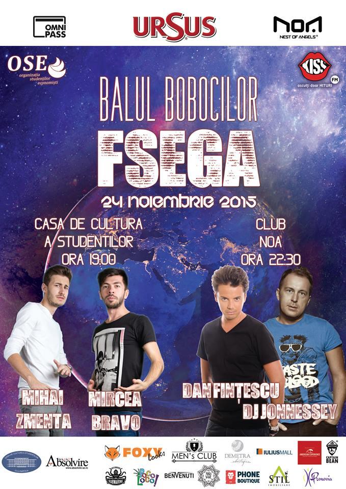 Balul Bobocilor FSEGA @ Club NOA