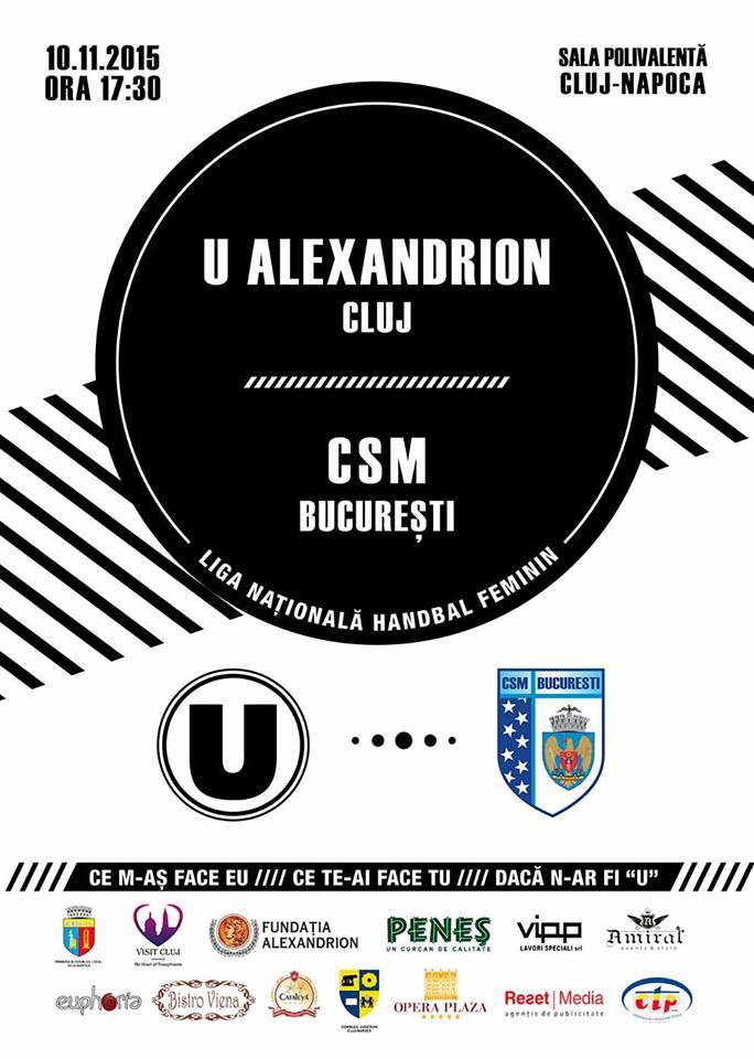 U Alexndrion Cluj – CSM București @ Sala Polivalentă
