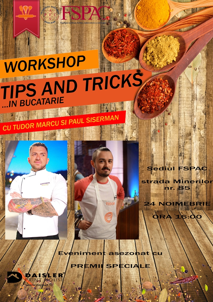 Tips and Tricks în bucătărie @ Hotel Topaz