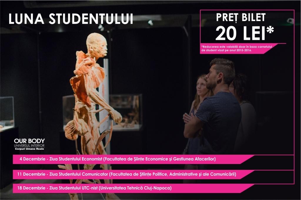 """Decembrie, Luna Studentului la expoziția """"OUR BODY: Universul Interior"""""""