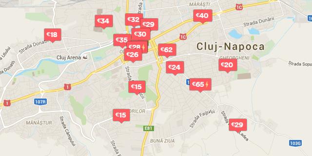 Apartamente cochete din Cluj, listate pe Airbnb