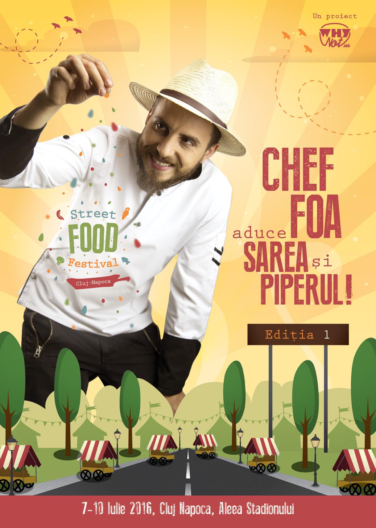 Clujul devine capitala Street Food alături de Chef Foa
