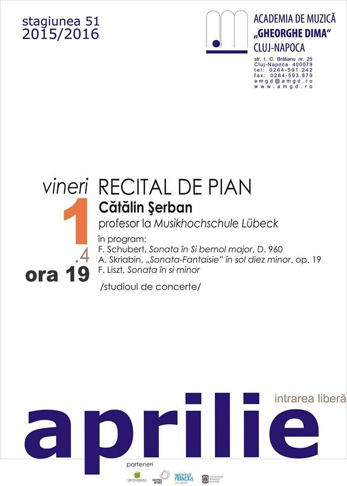 Recital de pian @ Academia de Muzică