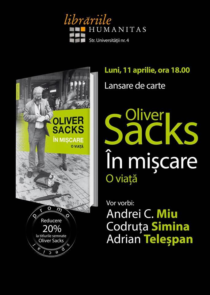 Ultima carte a lui Oliver Sacks @ Humanitas