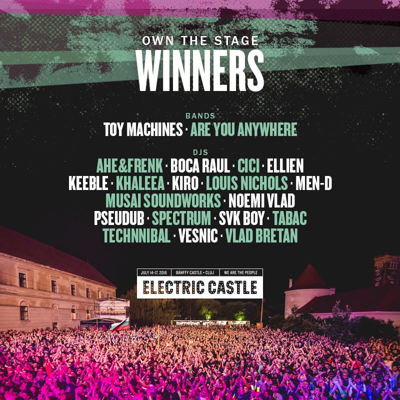 Au fost aleși câștigătorii Own The Stage at Electric Castle