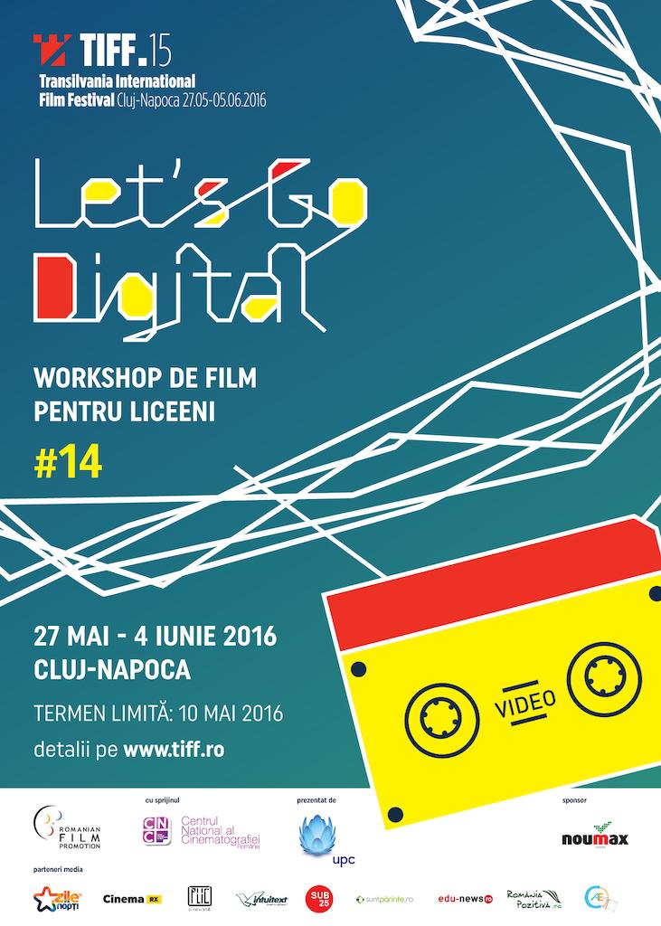 Au început înscrierile Let's Go Digital!, atelierul pentru liceeni de la TIFF