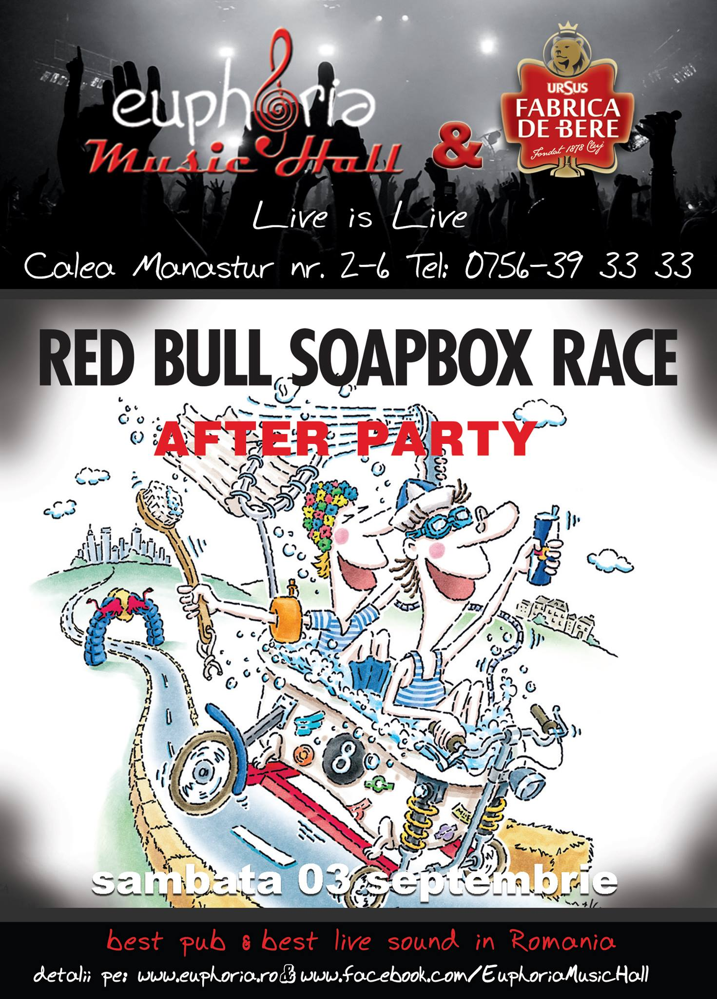 Red Bull Soapbox Race afterparty @ Euphoria Music Hall
