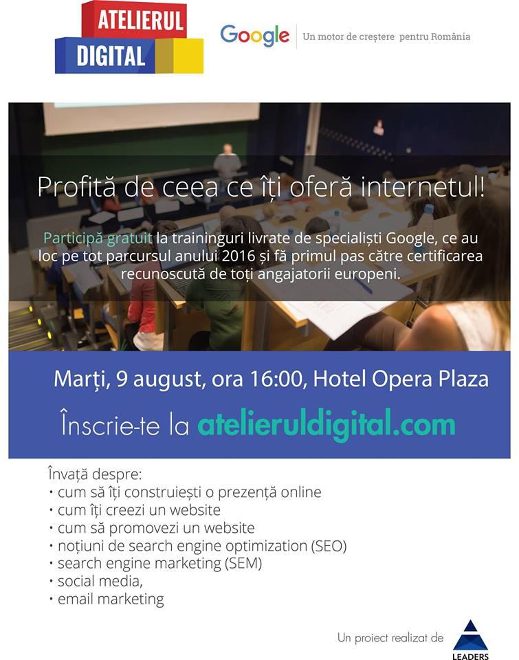 Atelierul Digital @ Hotel Opera Plaza