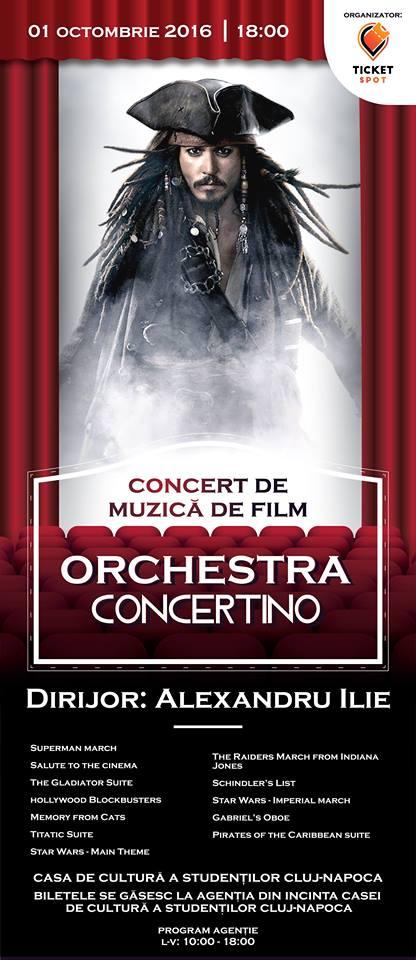 Concert de muzică de film @ Casa de Cultură a Studenților