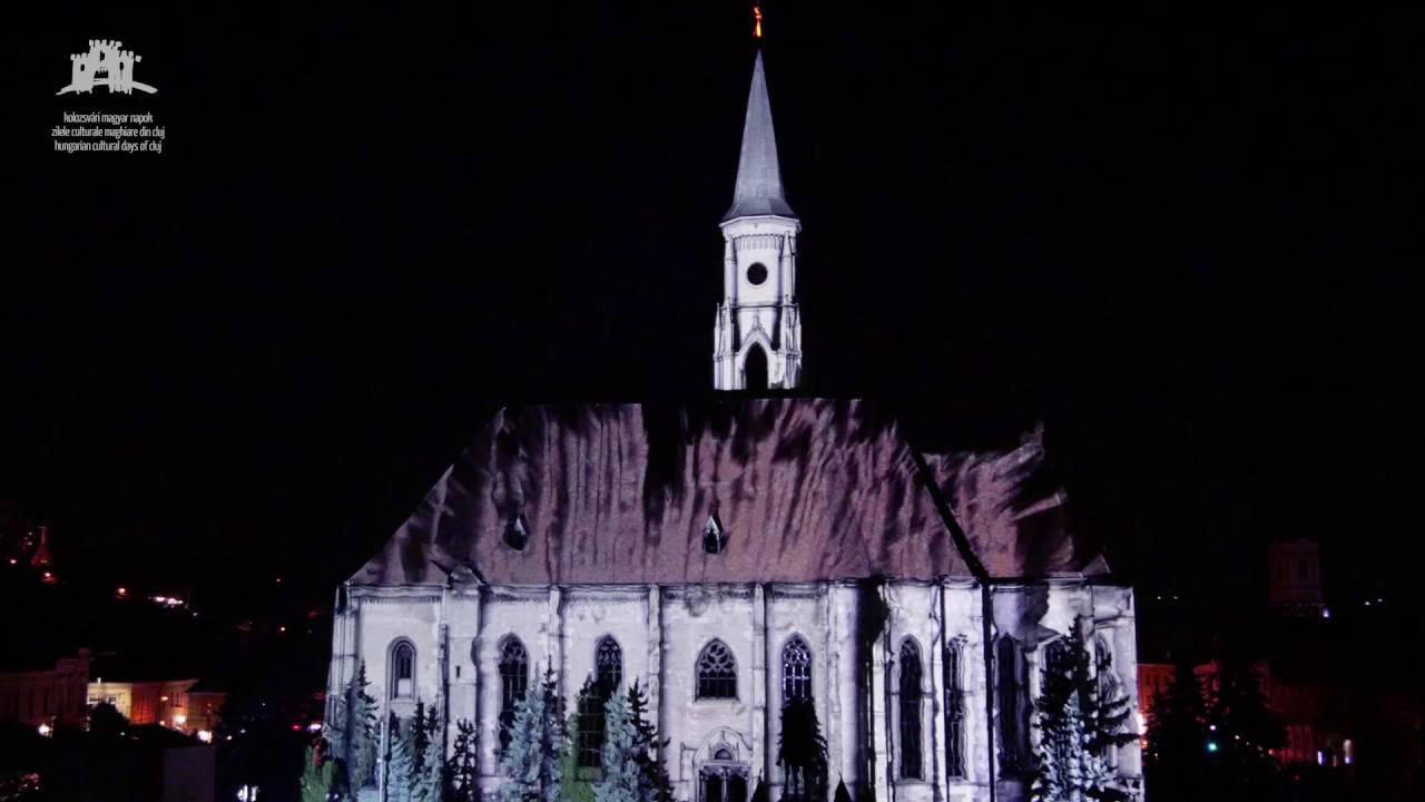 Video: Proiecție 3D mapping pe zidul Bisericii Sfântul Mihail