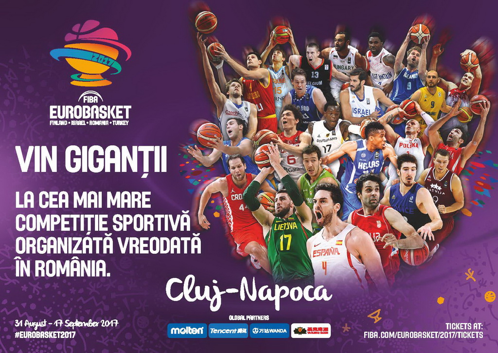 Se pot cumpăra bilete la FIBA EUROBASKET 2017