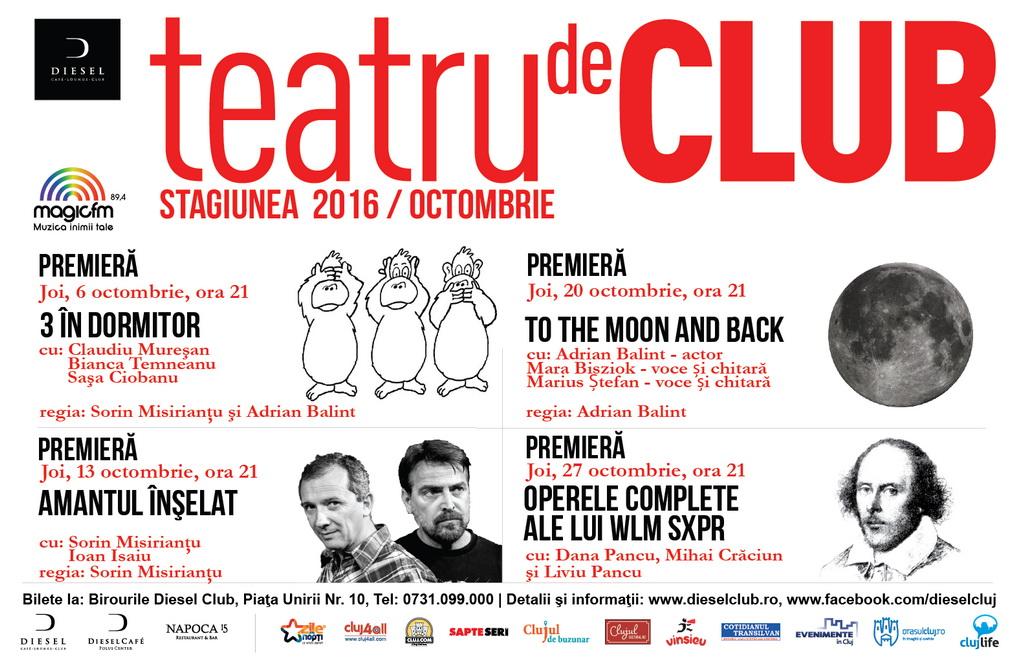 Teatru de Club @ Diesel Club – Stagiunea Octombrie 2016