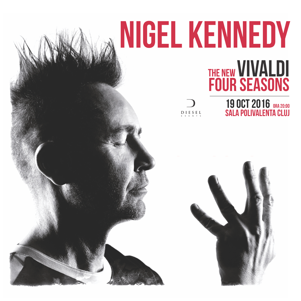 """Nigel Kennedy promite publicului o """"aventură muzicală frumoasă și surprinzătoare"""""""
