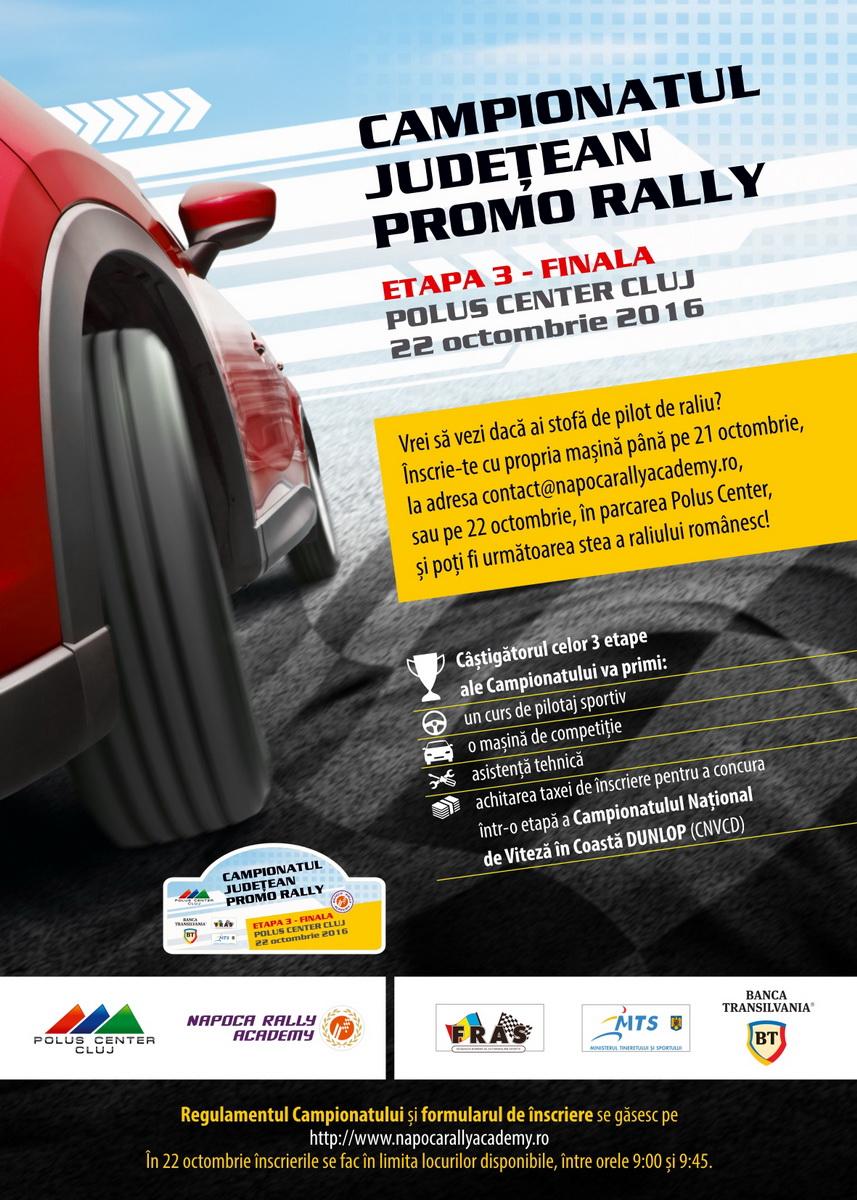 Campionatul Judeţean Promo Rally revine la Polus cu finala competiţiei