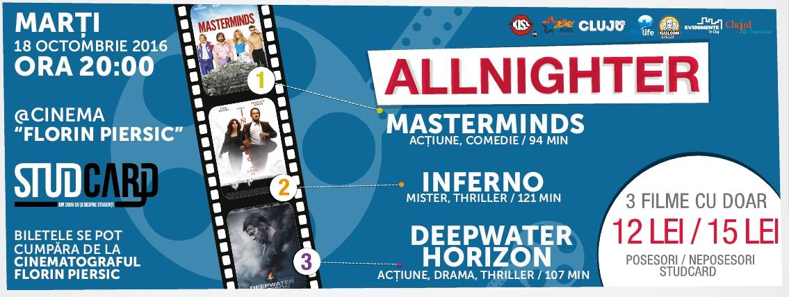 Allnighter @ Cinema Florin Piersic