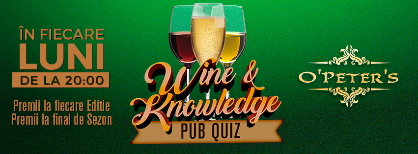 Wine & Knowledge Pub Quiz @ O'Peter's Irish Pub