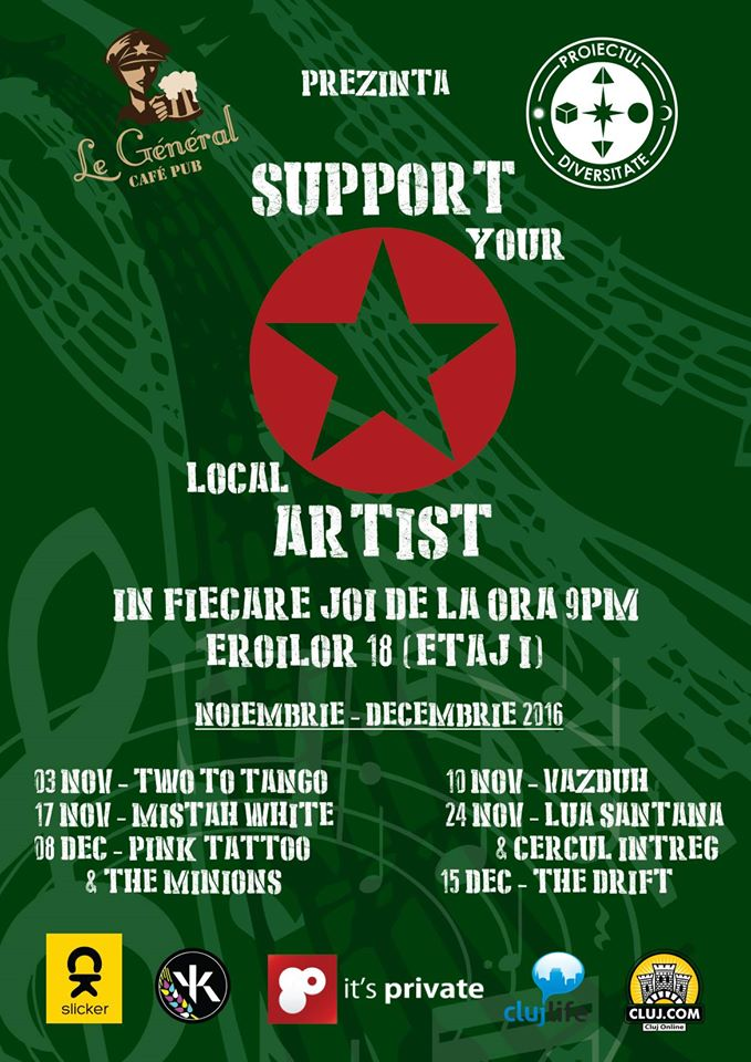 Support Your Local Artist @ Le General