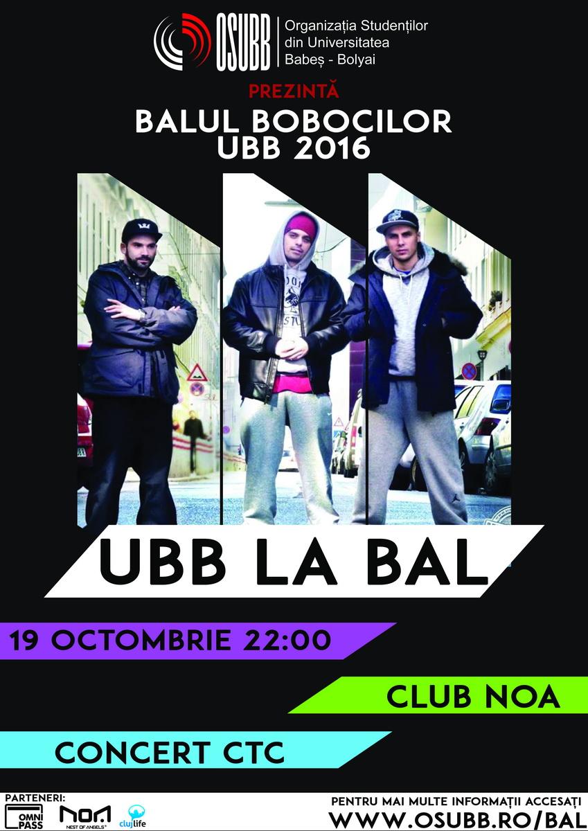 Balul Bobocilor UBB 2016 | Concert CTC