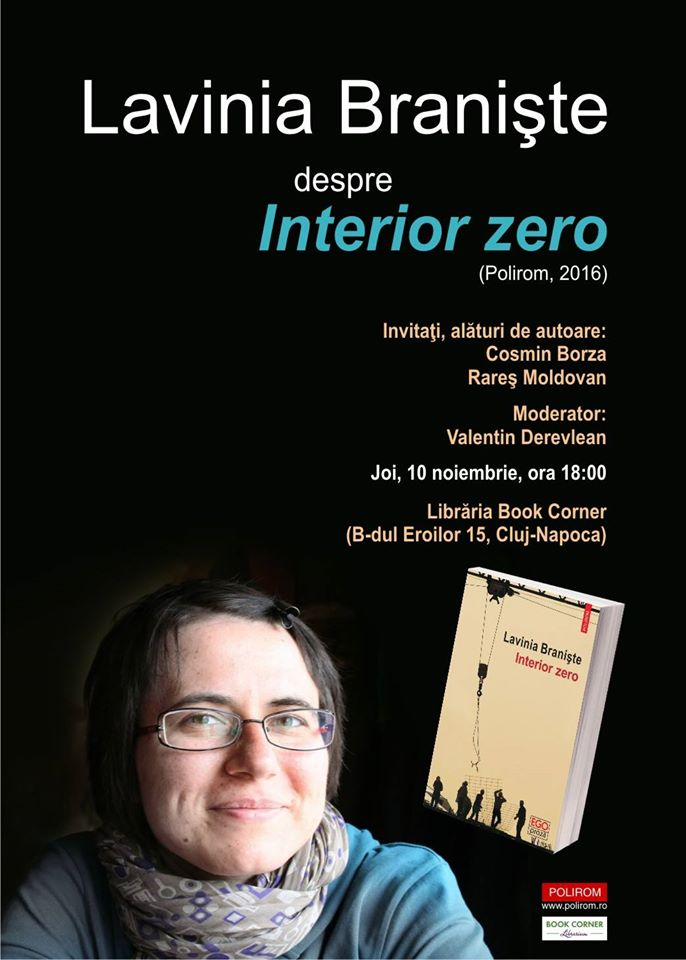 Lavinia Braniște despre Interior Zero @ Book Corner