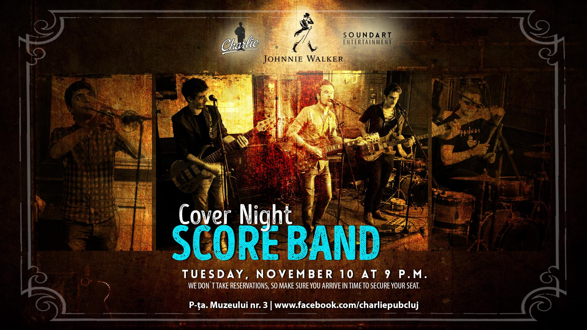 Cover Night: Score Band @ Charlie