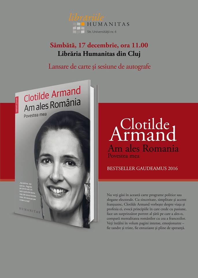 Lansare de carte – Clotilde Armand @ Librăria Humanitas