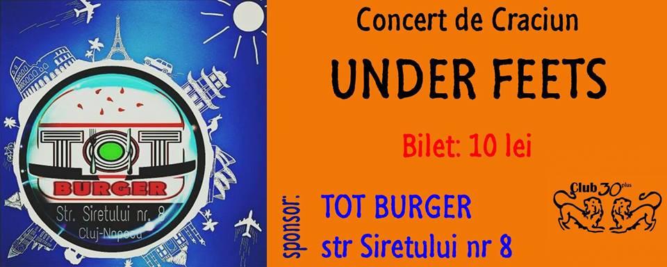 Concert de Craciun UNDER FEETS @ Club 30 Plus