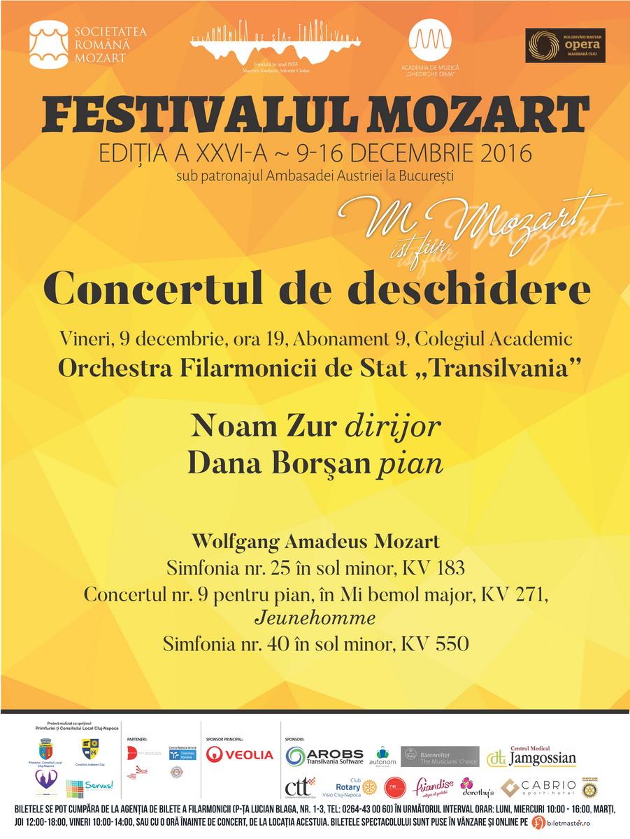 Concertul de deschidere a Festivalului Mozart