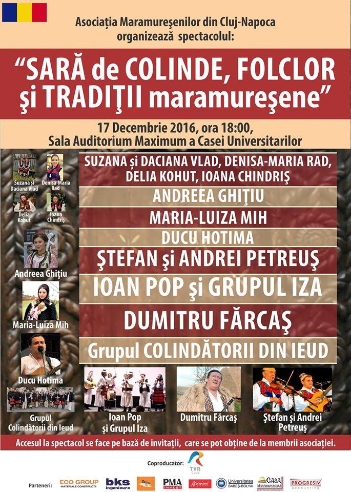 Sară de Colinde, Folclor și Tradiții Maramureșene @ Auditorium Maximum