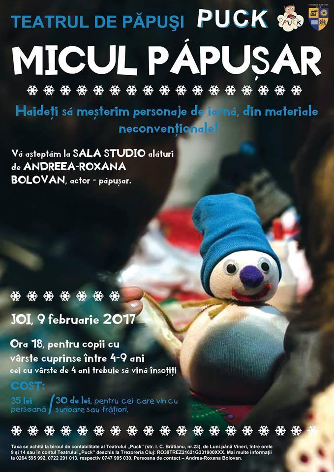 """Micul păpușar (ediția a II-a) @ Teatrul de Păpuși """"Puck"""""""