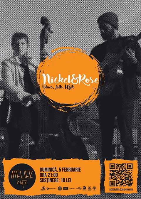 Nickel&Rose (USA) | Concert de blues, jazz, folk @ Atelier Cafe