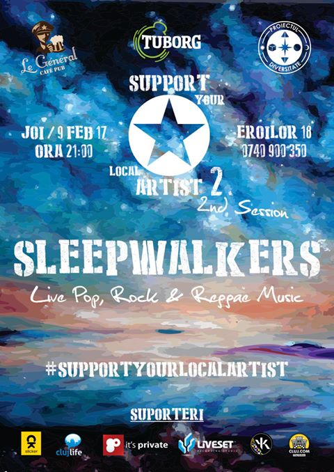 Sleepwalkers // Support Your Local Artist @ Le Général Café-Pub