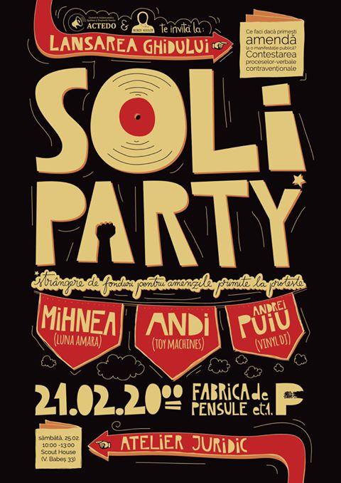Soli Party & Lansare ghid @ Fabrica de Pensule