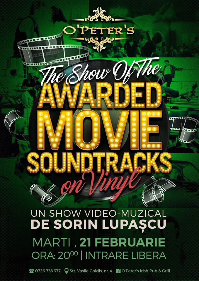 The Show of the Awarded Movie Soundtracks @ O'Peter's Irish Pub